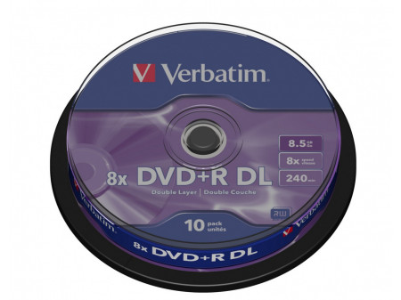 VERBATIM DVD+R (8X) 8.5GB DOUBLELAYER CB 10P
