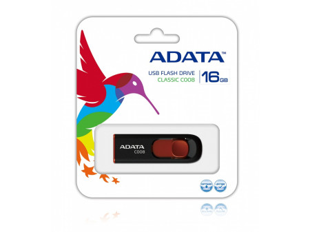 ADATA USB MEMORIJA 2.0 CLASSIC C008 16GB BLACK-RED