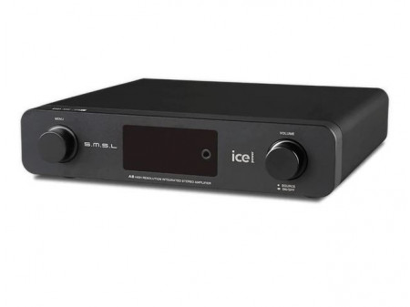 SMSL A6 HIGH RESOLUTION ICEPOWER 2X40W CLASS D AMPLIFIER WITH DAC AND HEADPHONE AMPLIFIER - POJAČALO