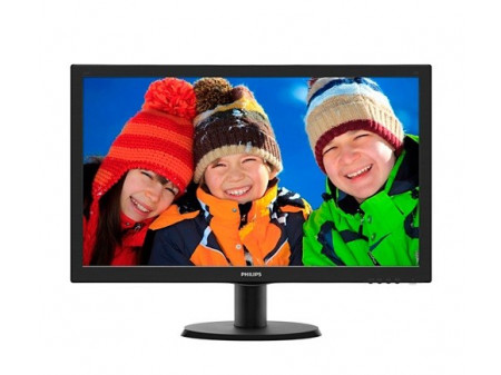 PHILIPS 23.6'' 243V5LHSB LED DVI HDMI BLACK