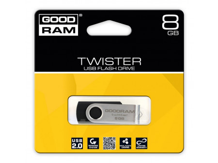GOODRAM TWISTER USB MEMORIJA 8GB USB2.0 BLACK