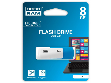 GOODRAM USB MEMORIJA COLOR MIX 8GB USB2.0 WHITE/BLUE