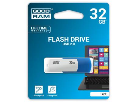 GOODRAM USB MEMORIJA COLOR MIX 32GB USB2.0 WHITE/BLUE