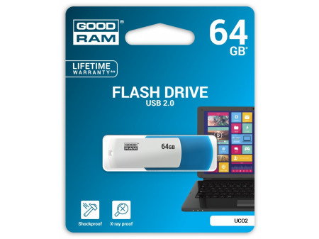 GOODRAM USB MEMORIJA COLOR MIX 64GB USB2.0 WHITE/BLUE