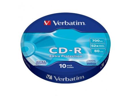 VERBATIM CD-R 52x 700MB 10P SP Extra Protection Wrap