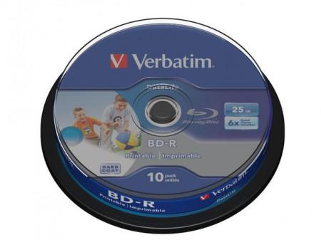 VERBATIM BD-R 6x 25GB 10PCS CB DATALIFE PRINTABLE