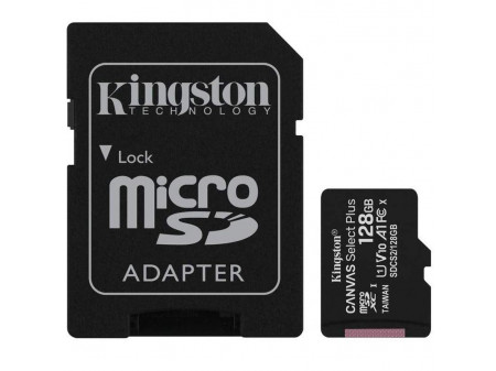 KINGSTON MICROSD 128GB CLASS10 CANVAS SELECT PLUS 100 MB/s