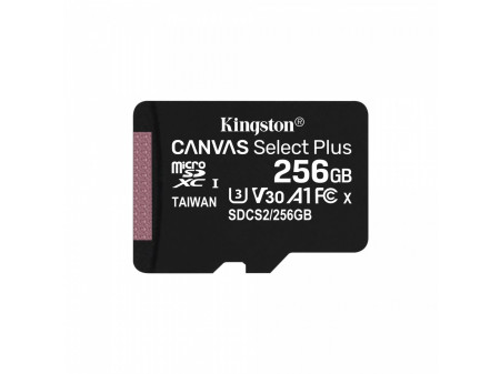 KINGSTON MICROSD 256GB CLASS10 CANVAS SELECT PLUS 100 MB/s