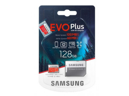 SAMSUNG EVO+ MEMORIJSKA KARTICA MICRO SD 128GB CL10 + ADAPTER