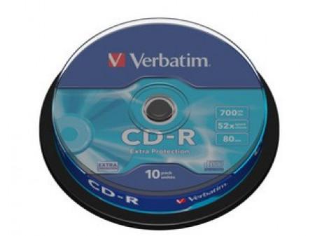 VERBATIM CD-R 52X 700MB 10P CB DL EXTRA PROTECTION