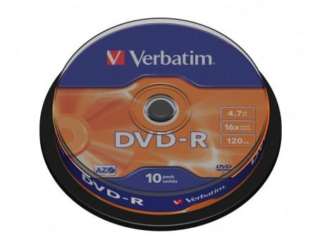 VERBATIM DVD-R 16X 4.7GB 10P CB