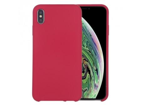 ZADNJA MASKA LIQUID SILICONE ZA IPHONE XS MAX ROSE RED