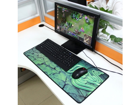 EXTENDED LARGE GOLIATHUS KEYBOARD AND MOUSE PAD 70CM X 30CM GREEN