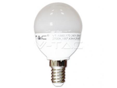 V-TAC LED bulb žarulja E14 6W 230V P45 prirodna bijela
