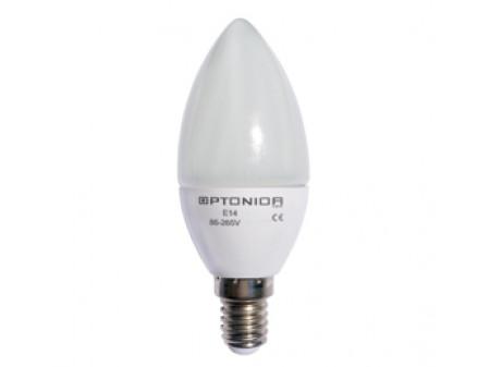 OPTONICA LED CANDLE ŽARULJA E14 6W 230V TOPLO BIJELA