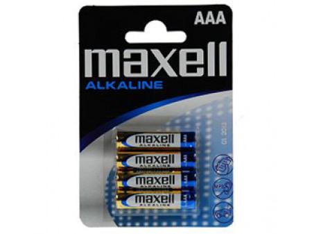 MAXELL ALKALNE BATERIJE 4 x LR03 (AAA) 1,5 V, mikro, blister