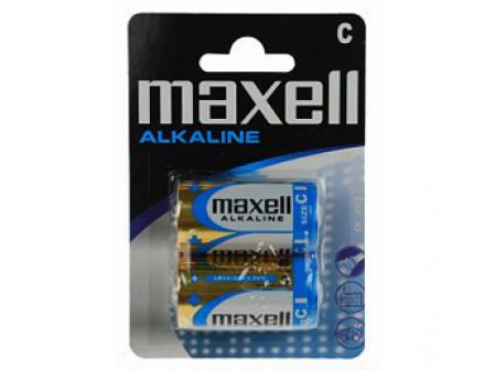 MAXELL ALKALNE BATERIJE 2 x LR14 (C) 1,5 V, poluamerikanka, blister