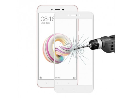 KALJENO STAKLO FULL SCREEN CARBON ZA XIAOMI REDMI 5A WHITE - RASPRODAJA