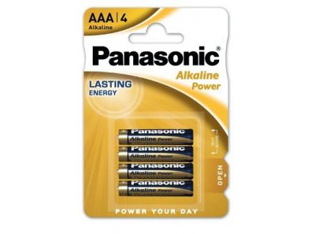 PANASONIC Power alkalna baterija, 4 x LR03 (AAA), 1,5 V, mikro, blister