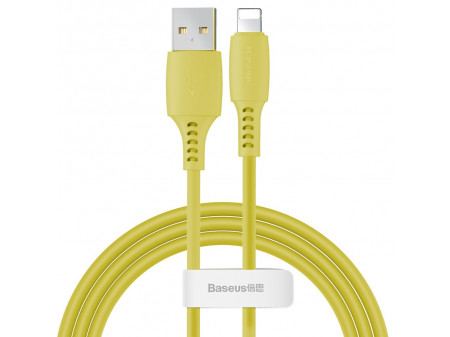 BASEUS COLORFUL KABEL 8-PIN 2.4A 1,2M YELLOW