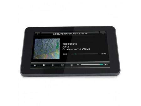RASPTOUCH I - SABER V4 AUDIO STREAMER SA ZASLONOM OSJETLJIVIM NA DODIR RASPBERRY PI 4 & DAC ES9023 BLACK
