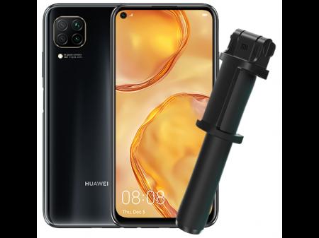 HUAWEI P40 LITE 128GB 6GB DUAL BLACK +  XIAOMI SELFIE STICK (NEMA GOOGLE)