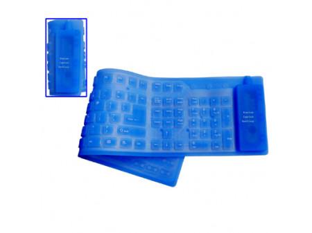 FLEKSIBILNA TIPKOVNICA USB 109 TIPKI VODOOTPORNA, PLAVA