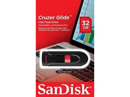 SANDISK USB 2.0 MEMORIJA CRUZER BLADE 32GB BLACK/RED