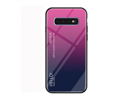 ZADNJA MASKA GLASS ZA SAMSUNG GALAXY S10 PLUS MAGENTA