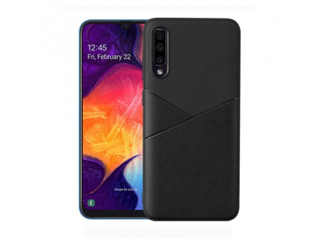 ZADNJA MASKA SHOCKPROOF LEATHER ZA SAMSUNG GALAXY A10 BLACK