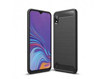 ZADNJA MASKA SHOCKPROOF CARBON ZA SAMSUNG GALAXY A10 BLACK