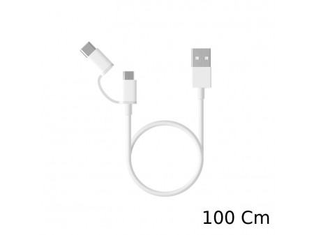 XIAOMI MI 2-in-1 MICRO USB TO TYPE-C CABLE (100CM)