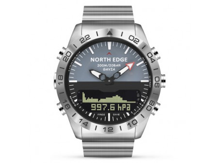 NORTH EDGE GAVIA 2 SMARTWATCH SILVER